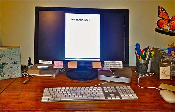 My Desk - The Blank Page awaits.